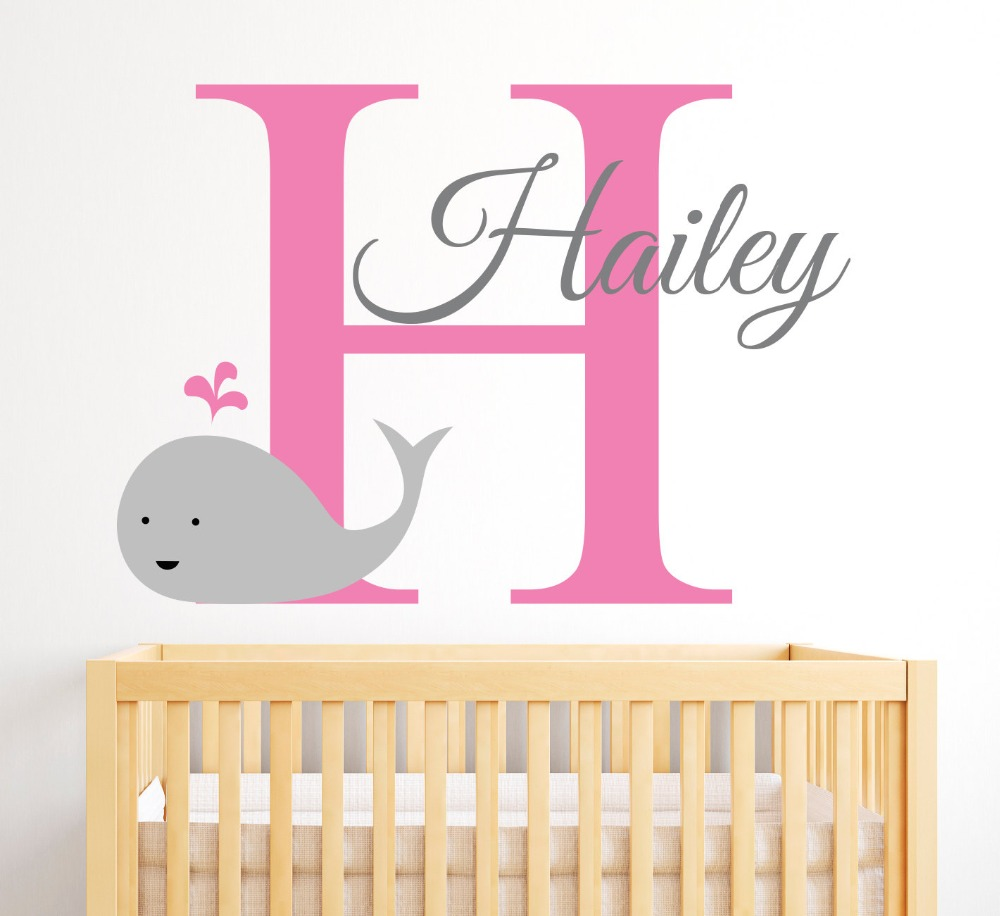 Best Name Wall Decal Whale Cute Pattern With Custom This Month