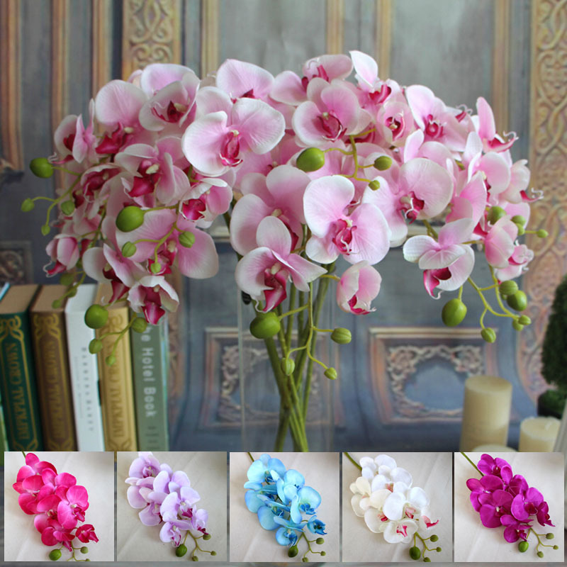 Best Wholesale 78Cm Artificial Silk Butterfly Orchids Home This Month