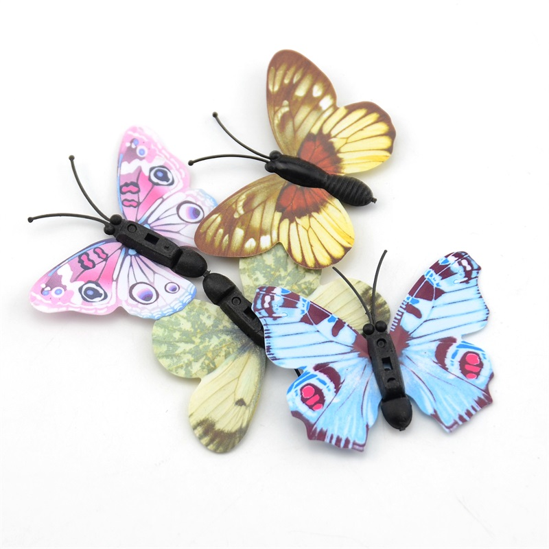 Best Cheap 100Pcs Plastic Butterfly Wall Stickers Home This Month