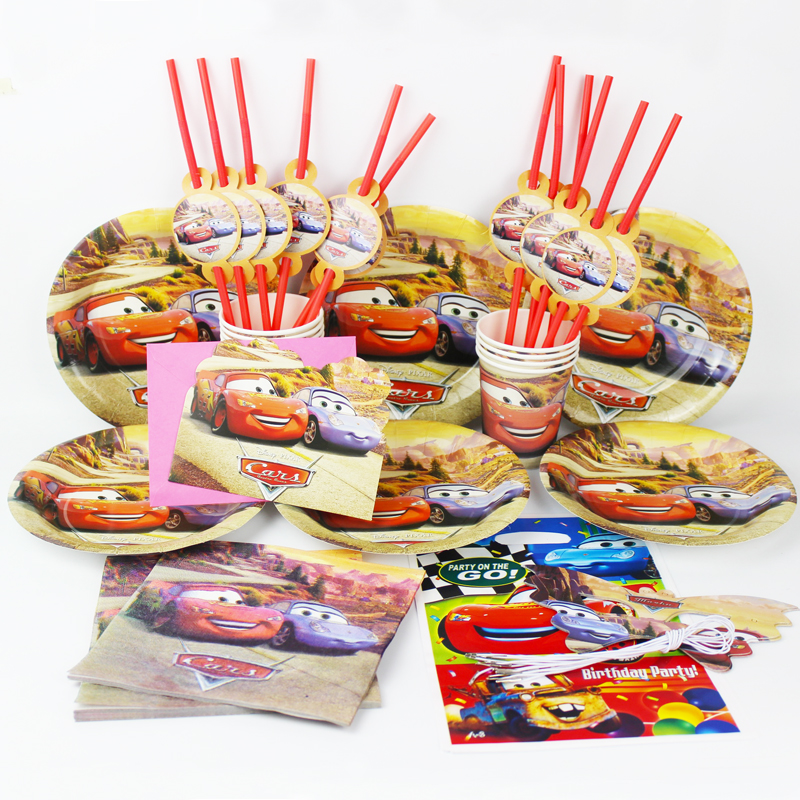 Best 92Pcs Lot Wholesale Disney Cars Birthday Party Decorations This Month