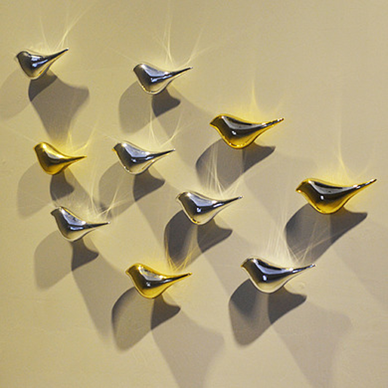 Best 3D Resin Birdie Wall Hanging Decor Craft Home Decorative This Month