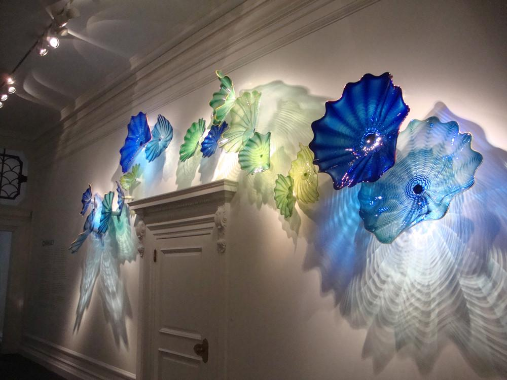 Best Sea Style Crystal Blue Color Spa Wall Decor Chihuly Art This Month