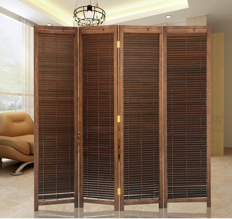 Best Oriental Japanese Style 4 Panel Wood Folding Screen Room This Month