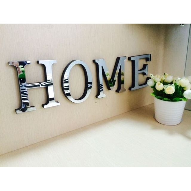 Best 3D Mirror Wall Stickers Letters Camila Home Decor This Month