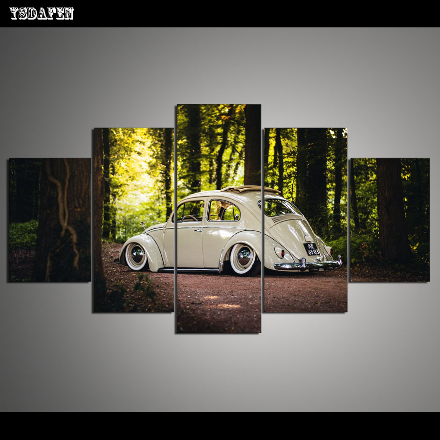 Best Drop Shipping Hd 5 Panel Canvas Painting Wall Art Car This Month