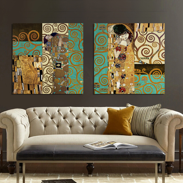 Best Aliexpress Com Buy Artists Gustav Klimt The Kiss Wall This Month