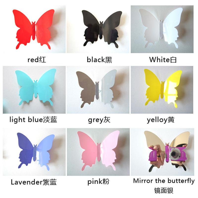 Best 3D Butterfly Animal Cartoon 12Pcs Vinyl Wall Stickers Home This Month
