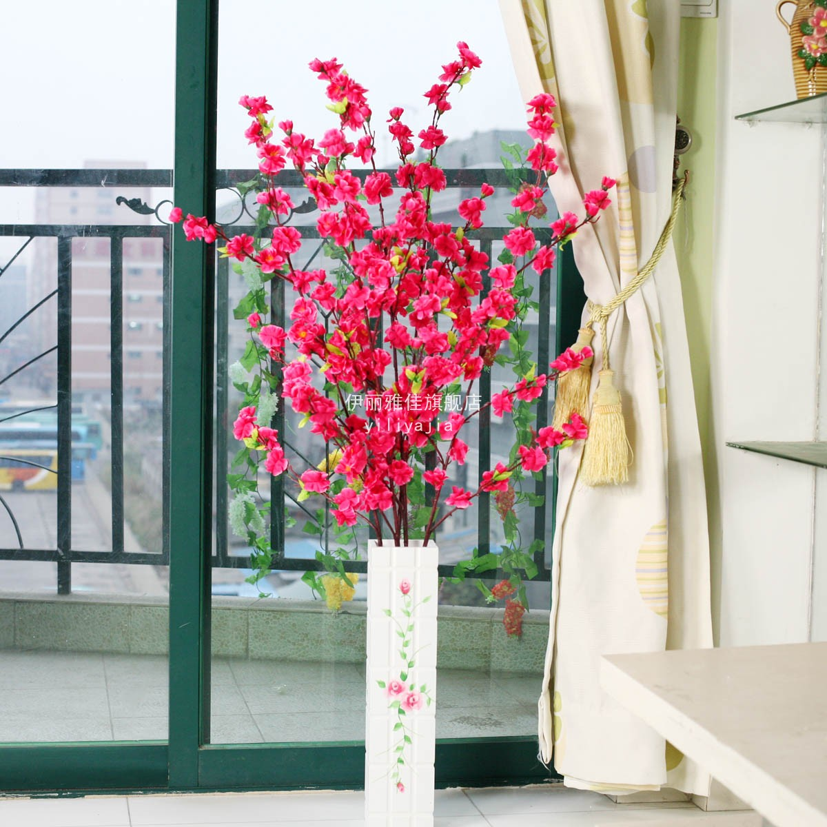 Best Peach Blossom Artificial Flower Living Room Dining Table This Month