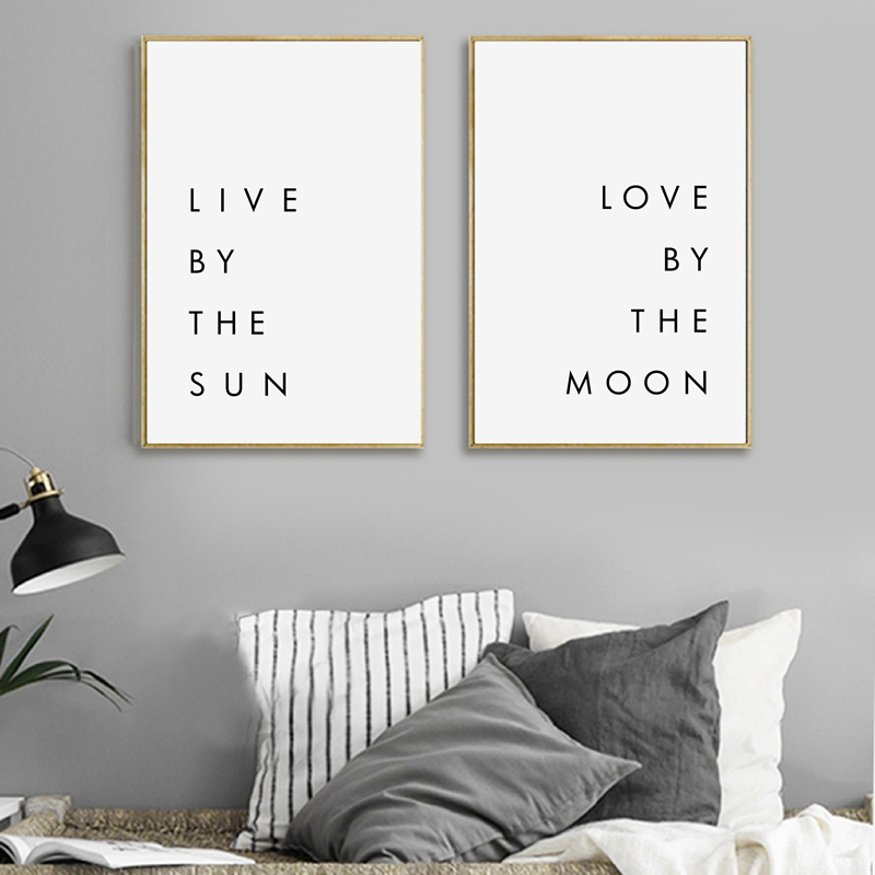 Best Bedroom Wall Art Minimalist Canvas Print Poster Live By This Month