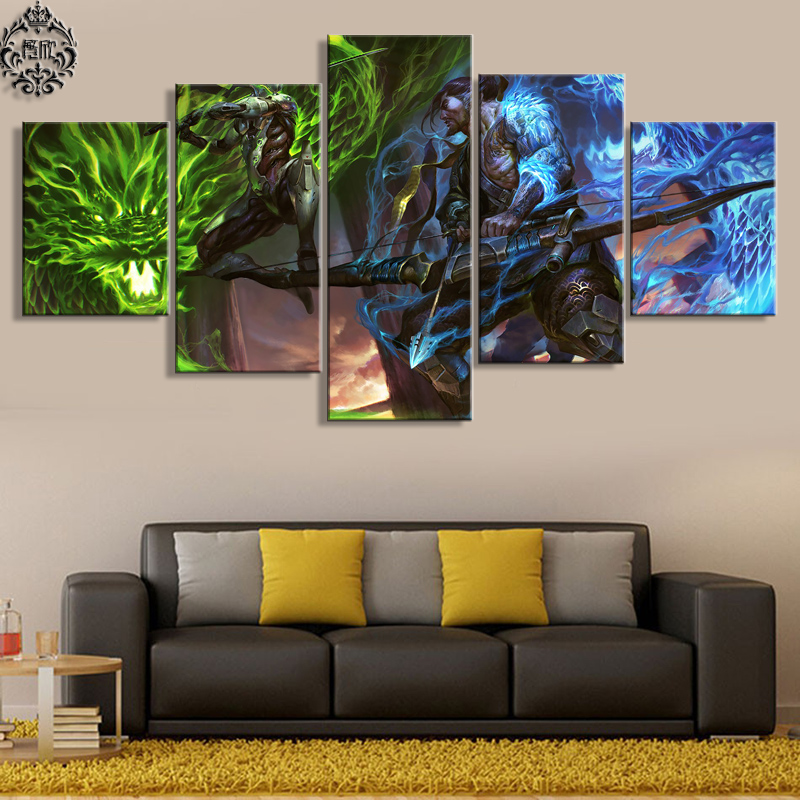 Best 5 Pieces Game Poster Overwatch Genji And Hanzo Canvas This Month