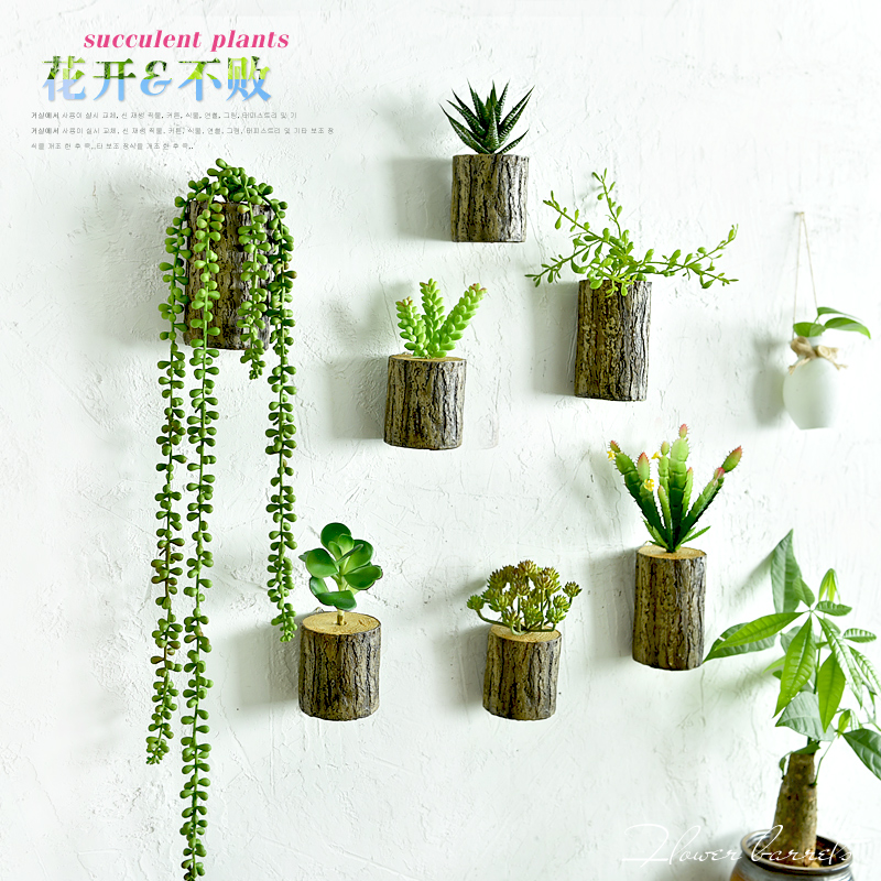 Best New Arrival 3D Wall Tree Stump Plants Imitation Flower This Month