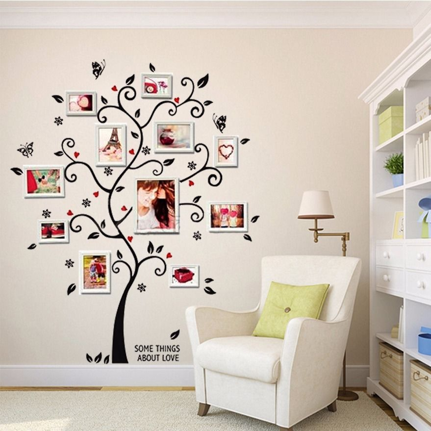 Best 100 120Cm 40 48In 3D Diy Removable Photo Tree Pvc Wall This Month
