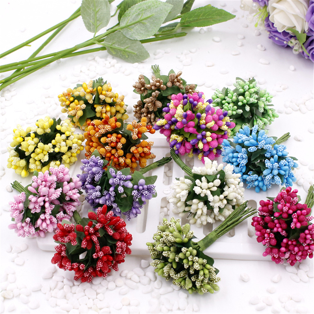 Best Cheap 12Pcs Artificial Stamen Flower For Wedding Home This Month