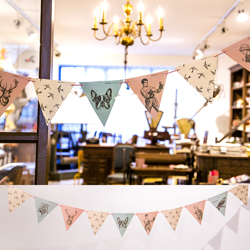 Best Vintage Style Garland Banners Party Flags Kids Birthday This Month