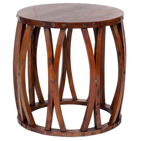 Best Shop Decorative Hebo Casual Round Accent Table Tan This Month