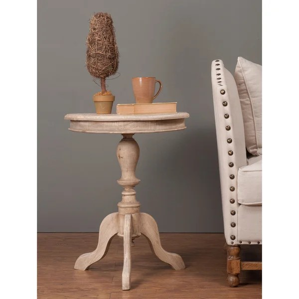 Best Shop Decorative Ulysses Rustic Brown Round Accent Table This Month