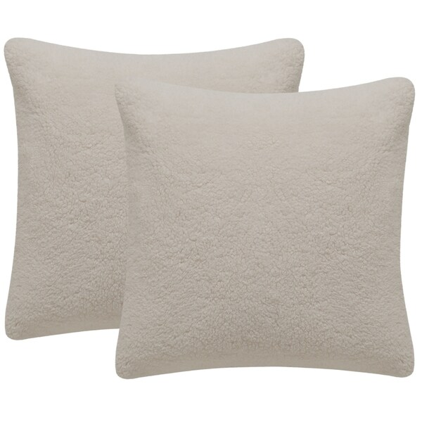 Best Shop Safavieh Marshmallow 20 Inch Creme Decorative Throw This Month