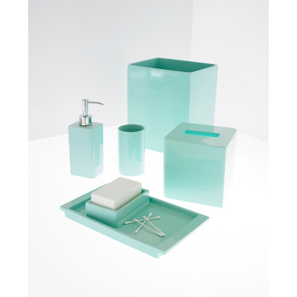 Best Shop Solid Lacquer Light Blue Bath Accessory Collection This Month