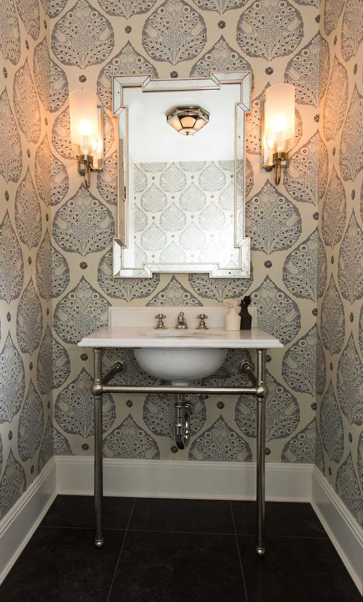 Best 30 Gorgeous Wallpapered Bathrooms This Month