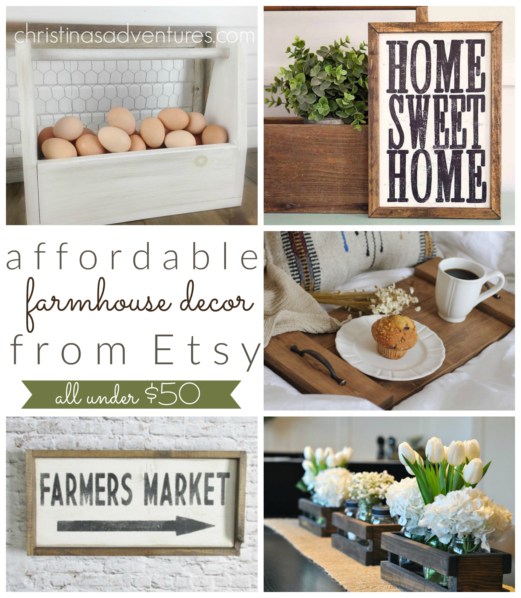 Best Affordable Farmhouse Decor On Etsy All Under 50 This Month