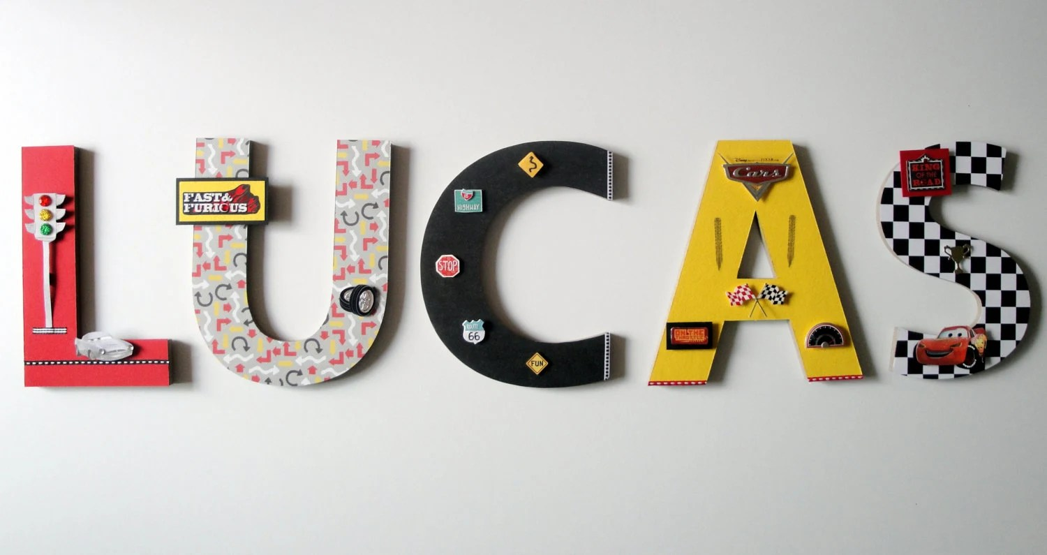 Best Disney Cars Wall Letters 8 3D Custom Wall Letters This Month