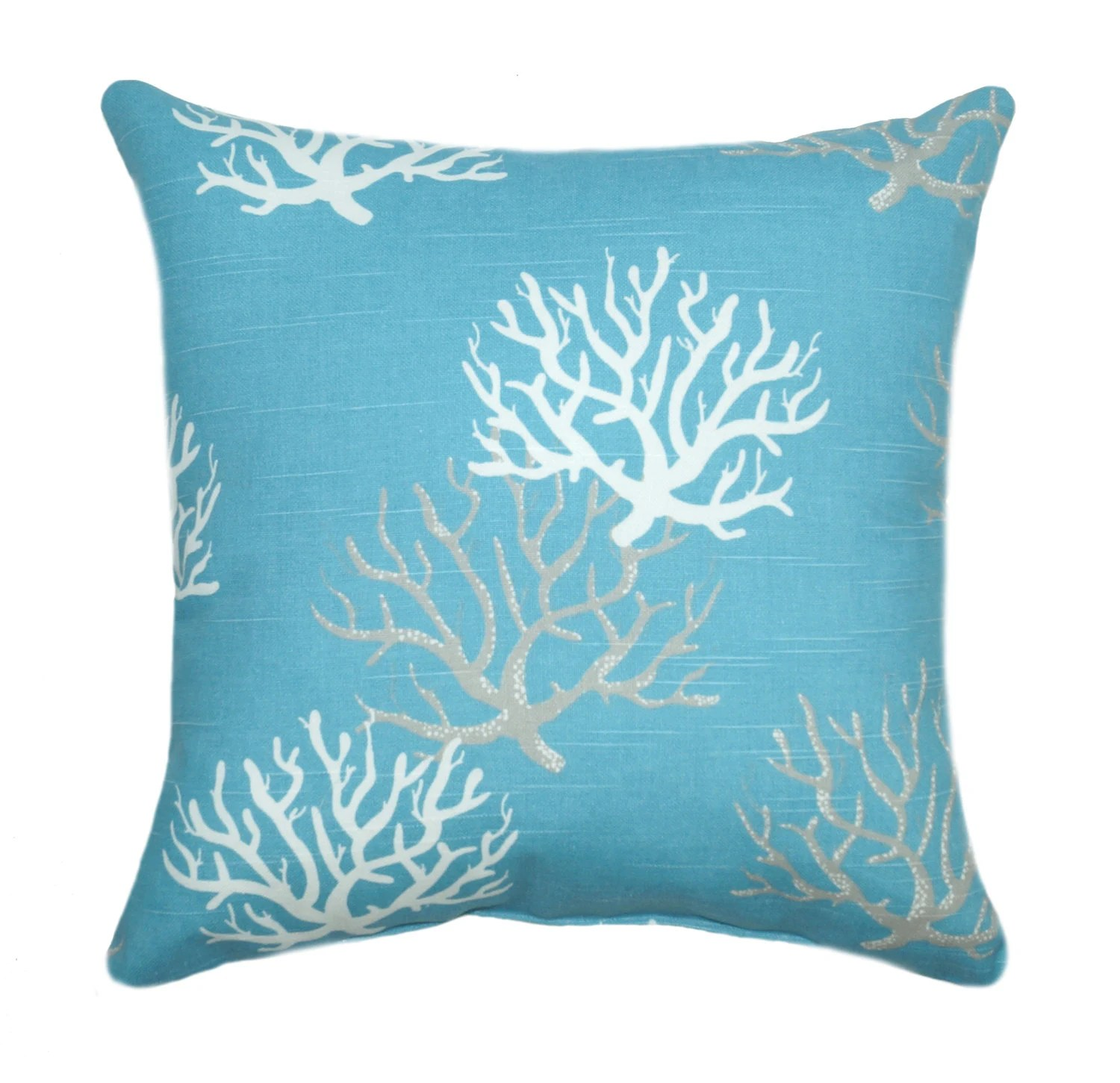 Best Beach Decor Pillow Coral Pillow Cover Isadella Coastal This Month