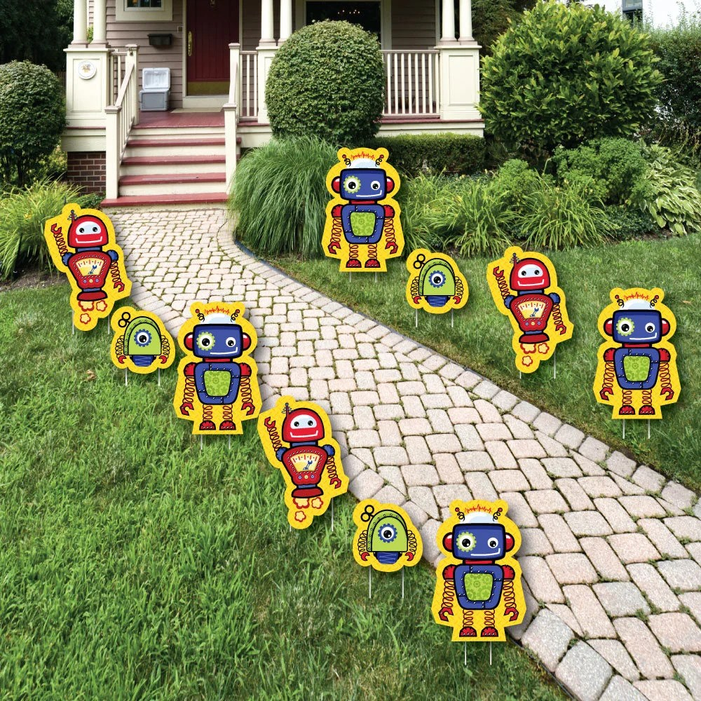 Best Robots Lawn Decorations Outdoor Baby Shower Or Birthday This Month