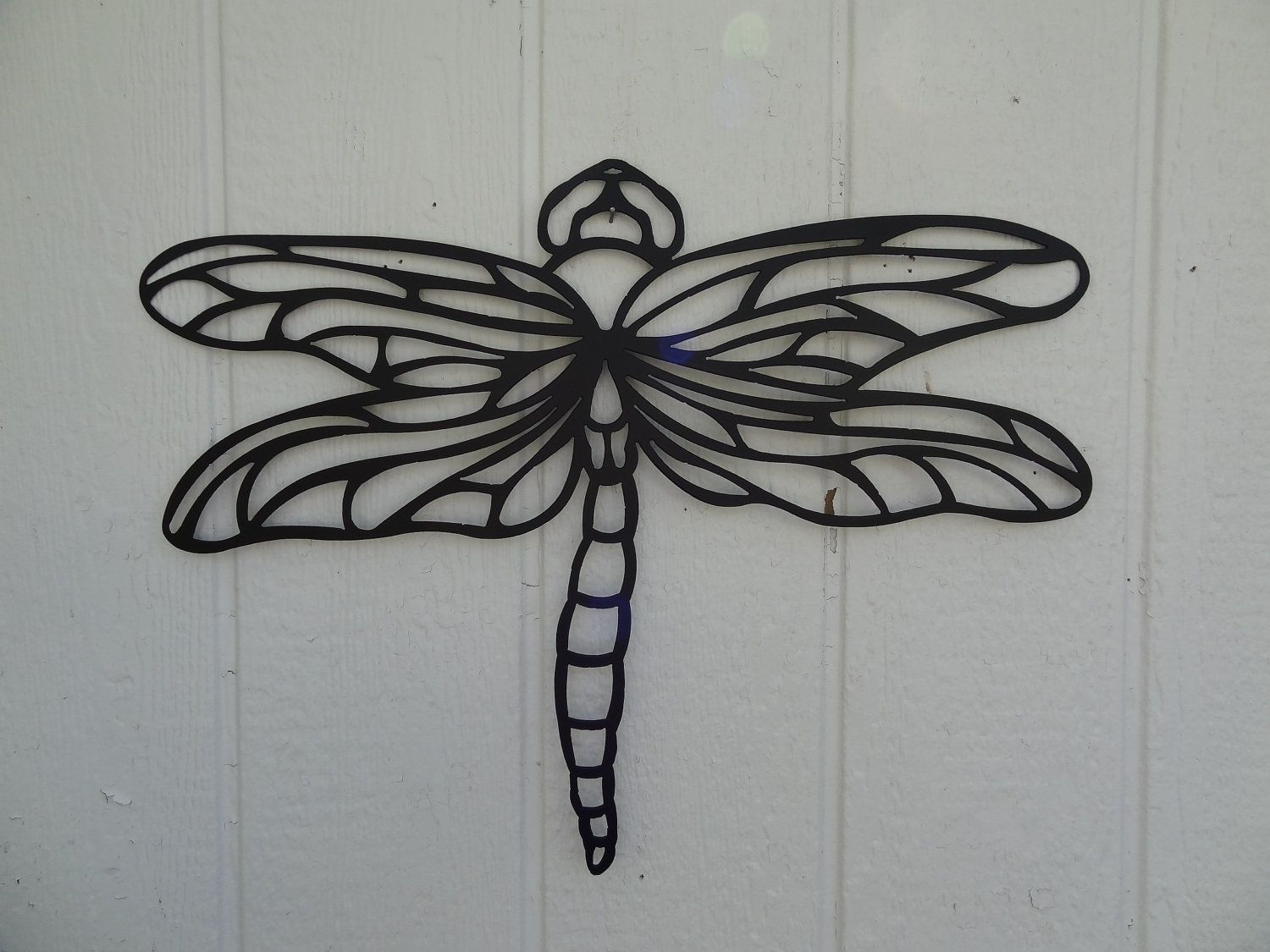Best Custom Dragonfly 2Ft Metal Wall Art Home Garden Kitchen Decor By Say It All On The Wall This Month