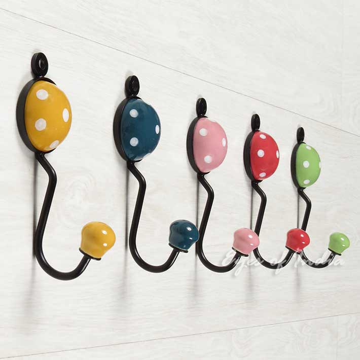 Best Polkadot Ceramic Wall Hooks Ideal For Coats Clothes This Month
