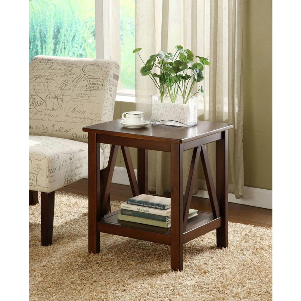 Best Linon Home Decor Titian Antique Tobacco End Table This Month