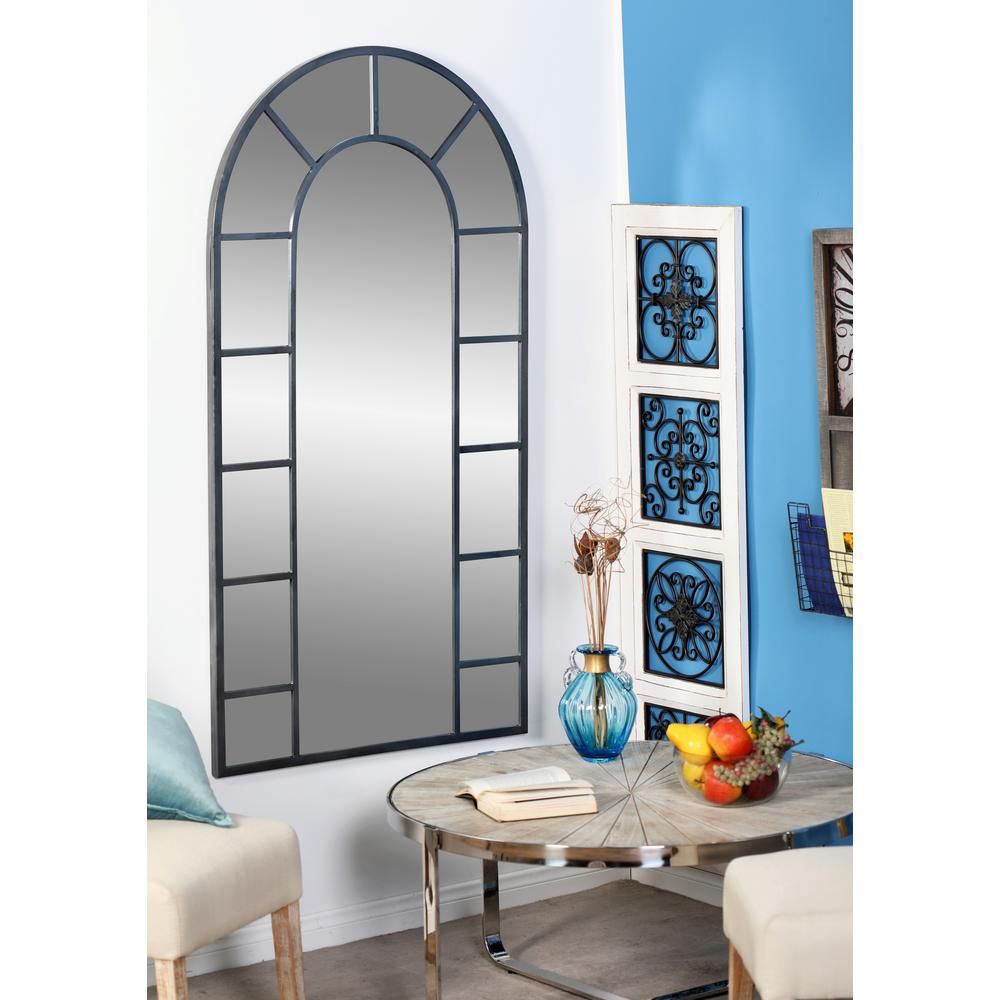 Best Litton Lane Arched Black Decorative Wall Mirror With 14 This Month