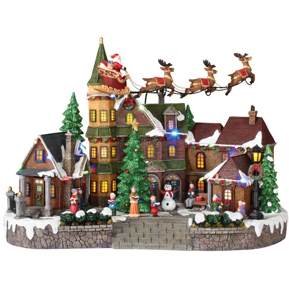 Best Home Accents Holiday 12 5 In Animated Musical Led Village This Month