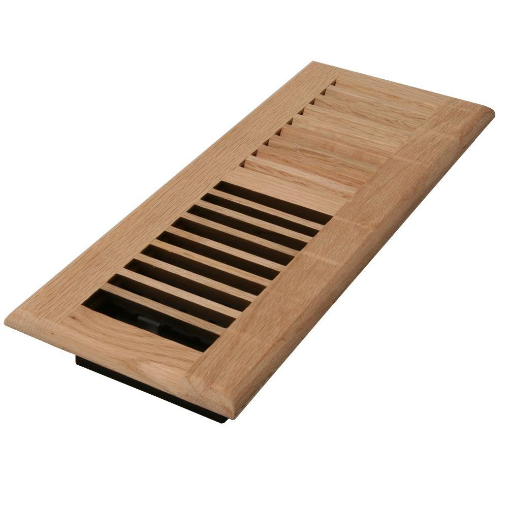 Best Decor Grates 2 In X 10 In Unfinished Oak Louvered Register Wl210 U The Home Depot This Month