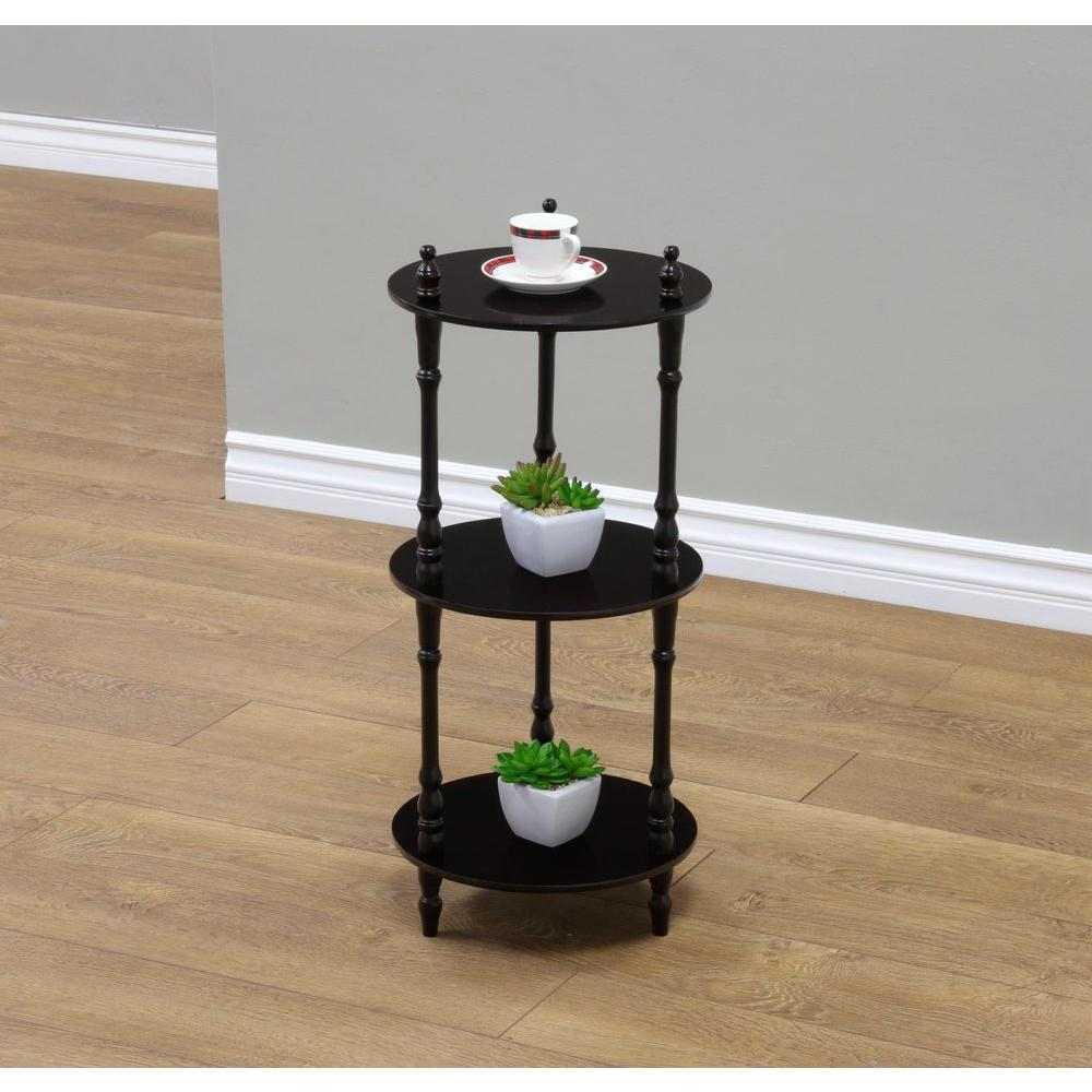 Best Frenchi Home Furnishing 3 Tier Cherry Wood Decorative This Month