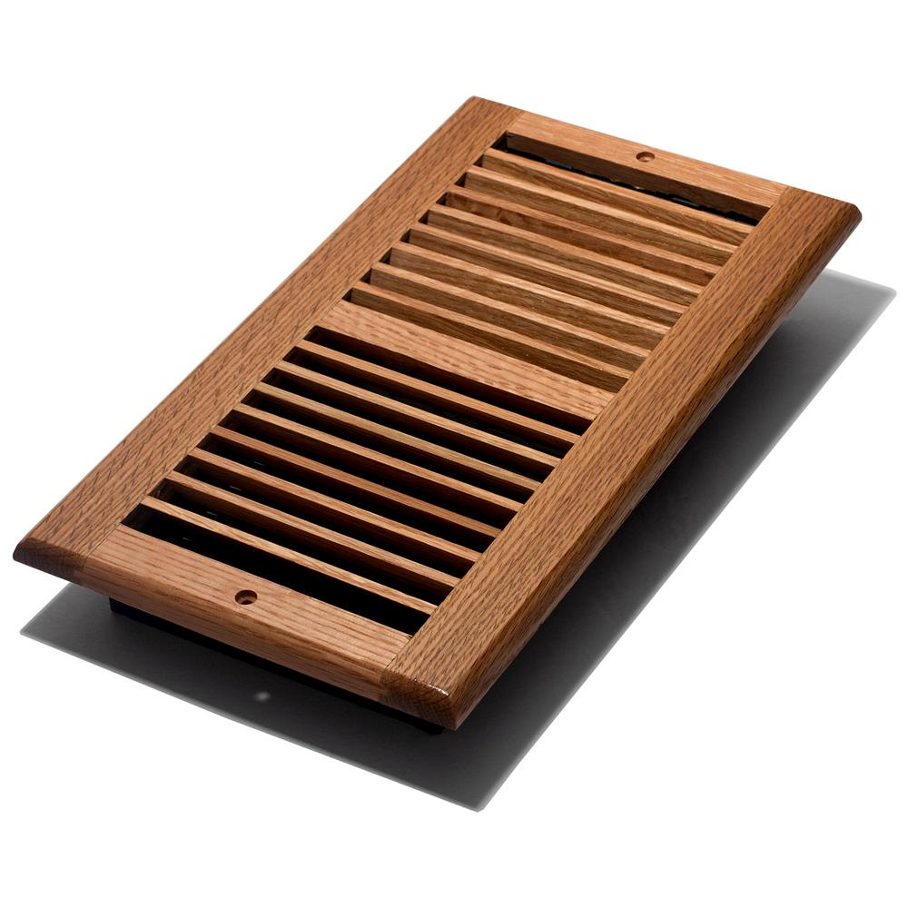 Best Oak Wall Register 6 X 12 In Wood Damper Box Rust Proof Louvered Hvac Accessory 771308002422 Ebay This Month