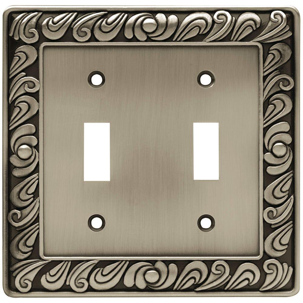 Best Liberty Paisley Decorative Double Switch Plate Brushed This Month