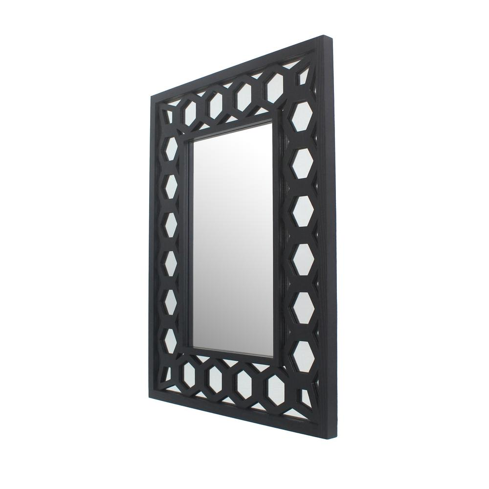 Best Pinnacle Handle Round Black Decorative Wall Mirror 1805 This Month