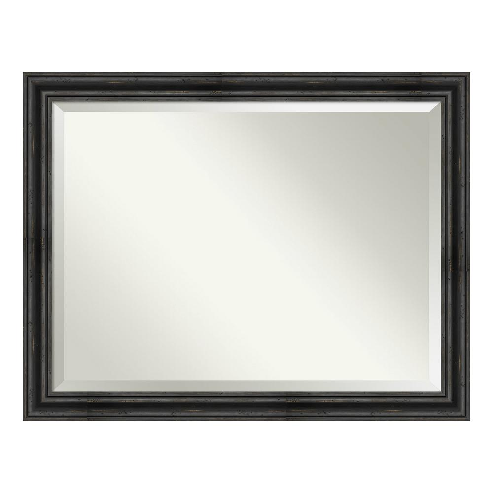 Best Amanti Art Rustic Pine Black Decorative Wall Mirror This Month