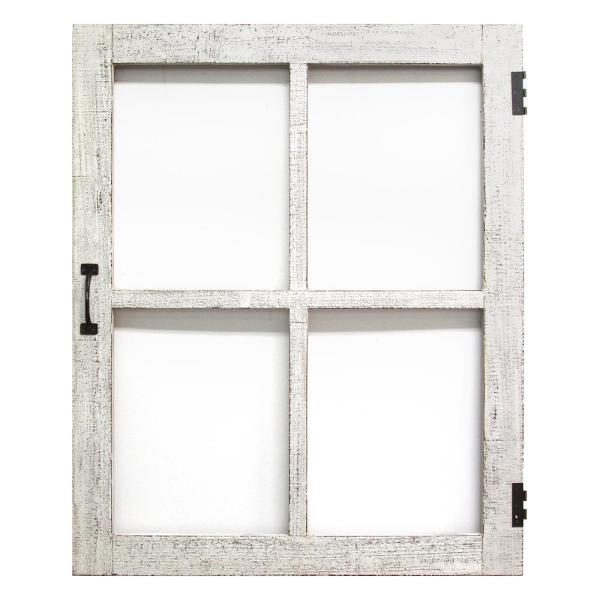 Best Stratton Home Decor Distressed White Faux Window Pane This Month