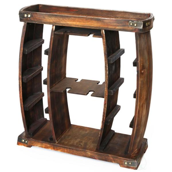 Best Vintiquewise 8 Bottle Brown Rustic Wooden Wine Rack With This Month