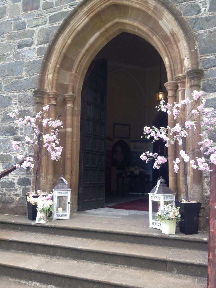 Best Posy Barn Blossom Trees Outside Church Ceremony Church This Month
