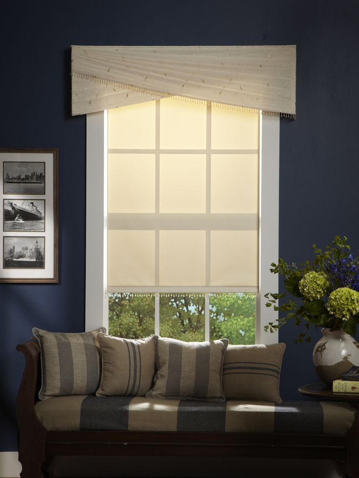 Best Sheer Decorative Cornices Look Simply Elegant Against Navy This Month