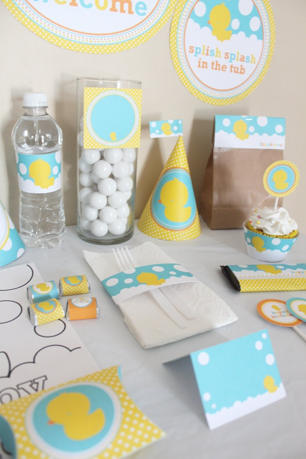 Best Rubber Ducky Birthday Decorations Printable Rubbery This Month