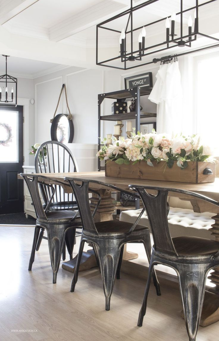 Best 45 Modern Farmhouse Dining Room Decorating Ideas Home This Month