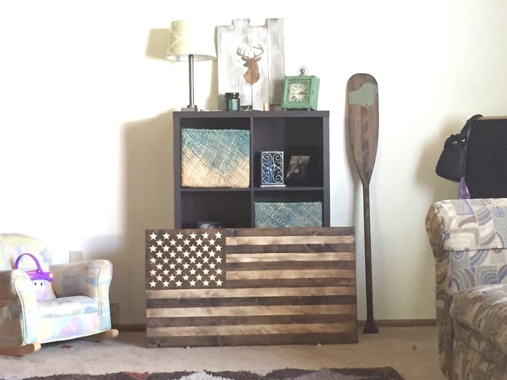Best Handmade Wood And Stain American Flag Badass American This Month