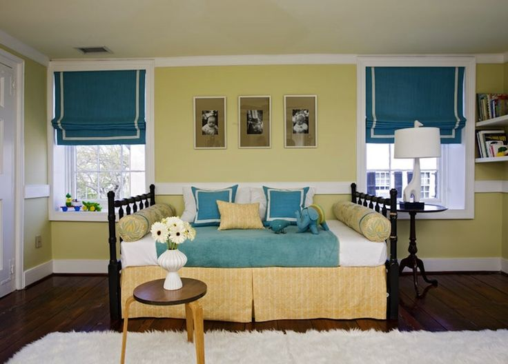 Best Teal Blue Roman Shades With White Border Windows Baby This Month