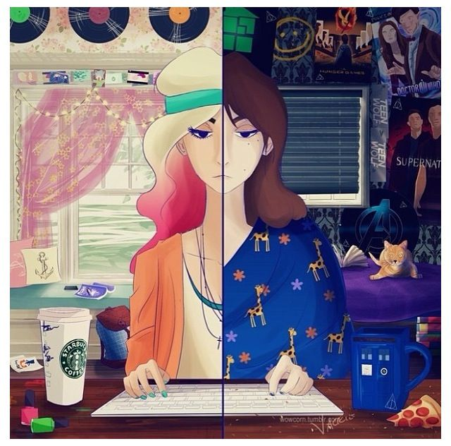 Best Hipster Vs Fangirl On Tumblr This Month
