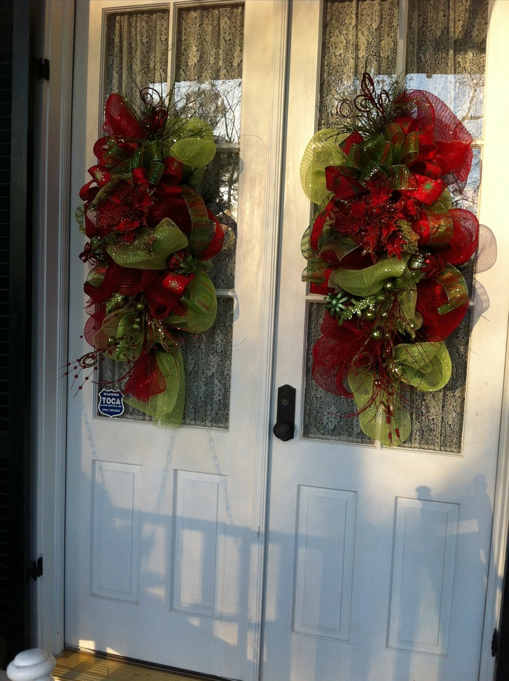 Best Double Door Teardrops In Lime Green And Red Christmas This Month