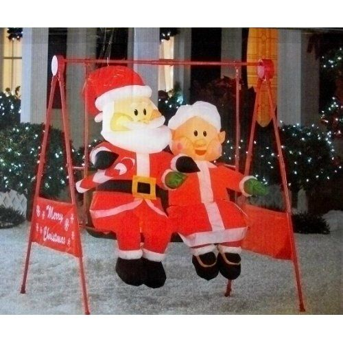 Best Mrs Claus Porch Swing Animated Christmas Inflatable Home This Month
