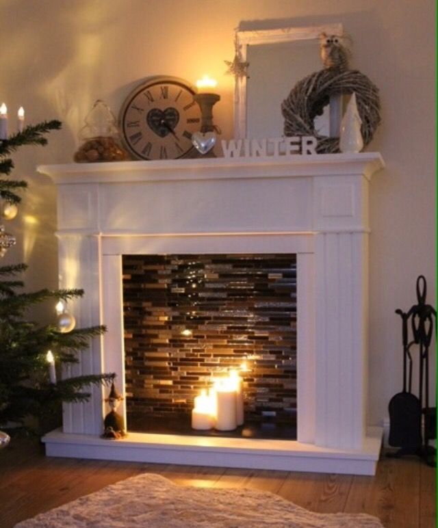 Best 25 Candle Fireplace Ideas On Pinterest Fake Mantle This Month